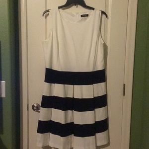 Classic black and white dress